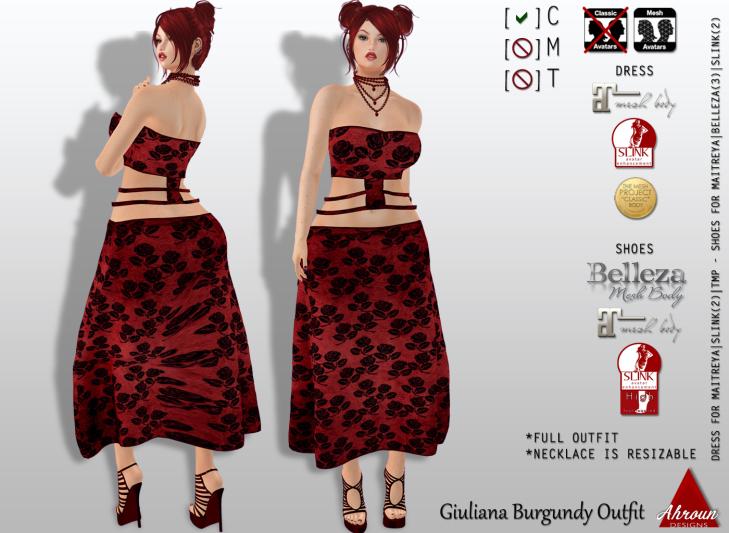 Giuliana Burgundy Outfit